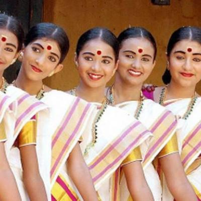 Thiruvathira Costumes at Jaya Bharath Dance Collection in Thodupuzha