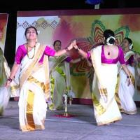 Thiruvathira Costumes at Narthaki Dance Collections in Kalady