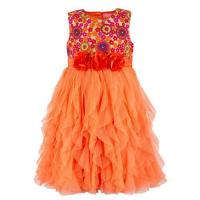 Girls Waterfall Party Dress at Toy Balloon Fashion Private Limited in New Delhi