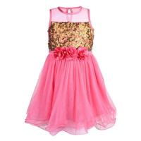 Pink Little Girls Party Dress at Toy Balloon Fashion Private Limited in New Delhi