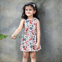 Kids Piccolo Printed Cotton Dress at Drape In Vogue in Indore