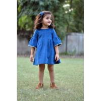 Plain Cotton Kids Dress at Drape In Vogue in Indore