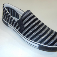 Canvas Black Lining Rubber Shoes at Bajaj Packer in Saharanpur