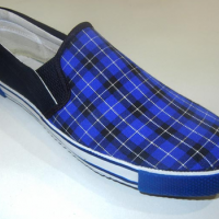 Canvas Blue Checks Rubber Shoes at Bajaj Packer in Saharanpur