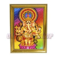 Drishti Ganesha Photo Frame for Entrance to Home at Om Pooja Shop in Mumbai