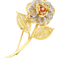 Gold Brooch at Chungath Jewellery in Ernakulam