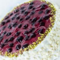 Blueberry cake at Pandhal Cakeshop in Panampilly Nagar