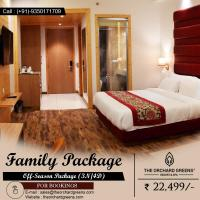 Honeymoon resort in Manali Resort in Manali near mall road at The Orchard Greens in Old  Manali
