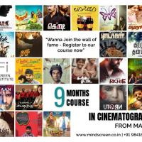 Nine Months Course in Cinematography at MINDSCREEN FILM INSTITUTE in Chennai