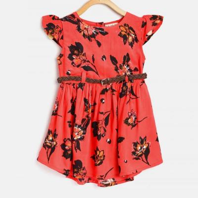 FLORAL COTTON FROCK at kids wear wholesale in Kothamangalam