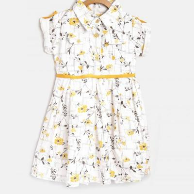 PRINTED COTTON FROCK at kids wear wholesale in Kothamangalam
