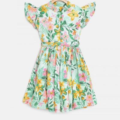 COTTON PRINTED FROCK at kids wear wholesale in Kothamangalam